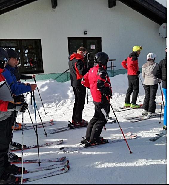 Klaus Iohannis și-a petrecut weekend-ul la ski, în județul Alba