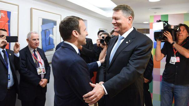Iohannis şi Macron vor avea o conferinţă de presă comună si vor merge la Muzeul Satului