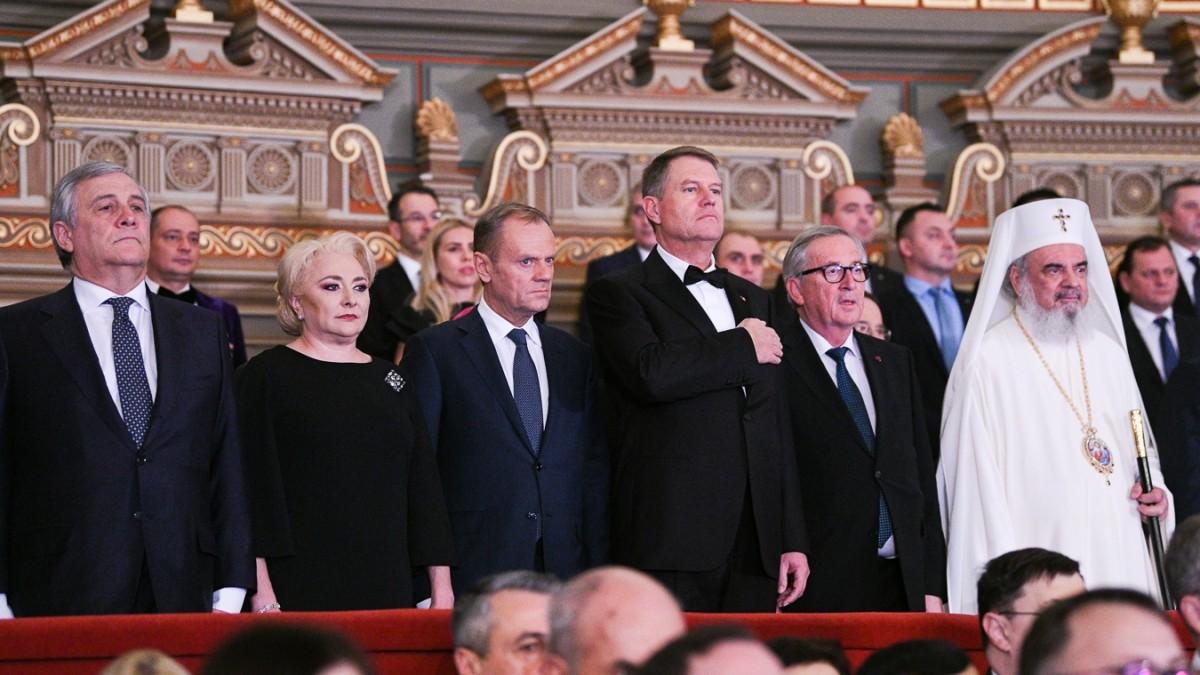 Video.Donald Tusk: Fac apel către români să aperelibertatea cum a apărat Duckadam cele patru penalty-uri în 1986