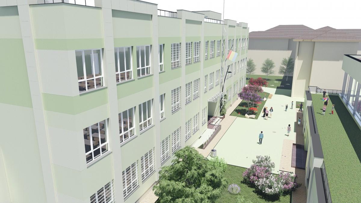 Primăria Sibiu a obținut finanțare din fonduri europene pentru extinderea școlii Nicolae Iorga și construcția unei săli de sport
