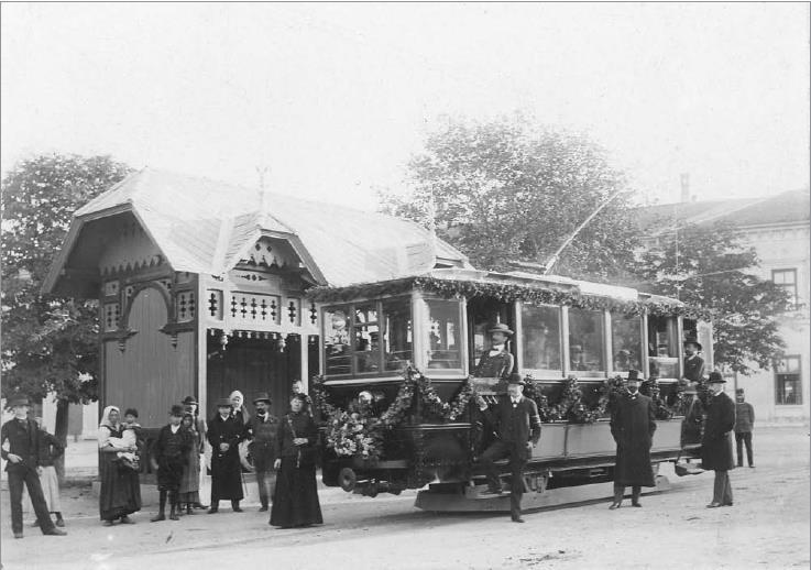 100 de ani de transport public în Sibiu. În anul Unirii,orașul își extindea rețeaua de tramvai