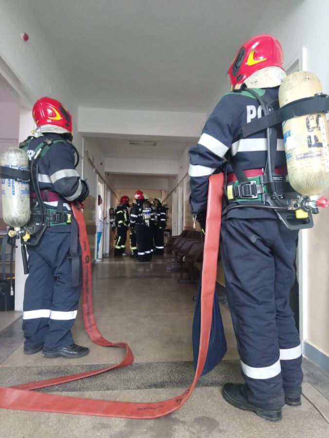 Un nou incendiu la spital. De data asta la Maternitate