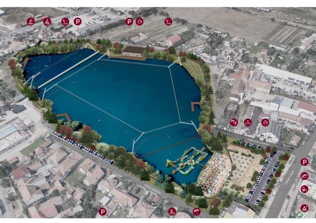 Primăria Sibiu a contractat lucrările de amenajare a Lacului Binder pentru sport și agrement (CP)