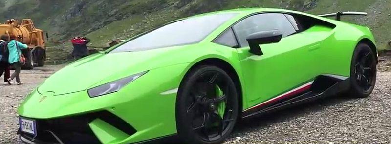 VIDEO - Lamborghini își face reclama pe Transfăgărășan