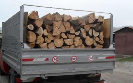 Scutul Pădurii. 10m3 de lemne, transportate cu un aviz greșit