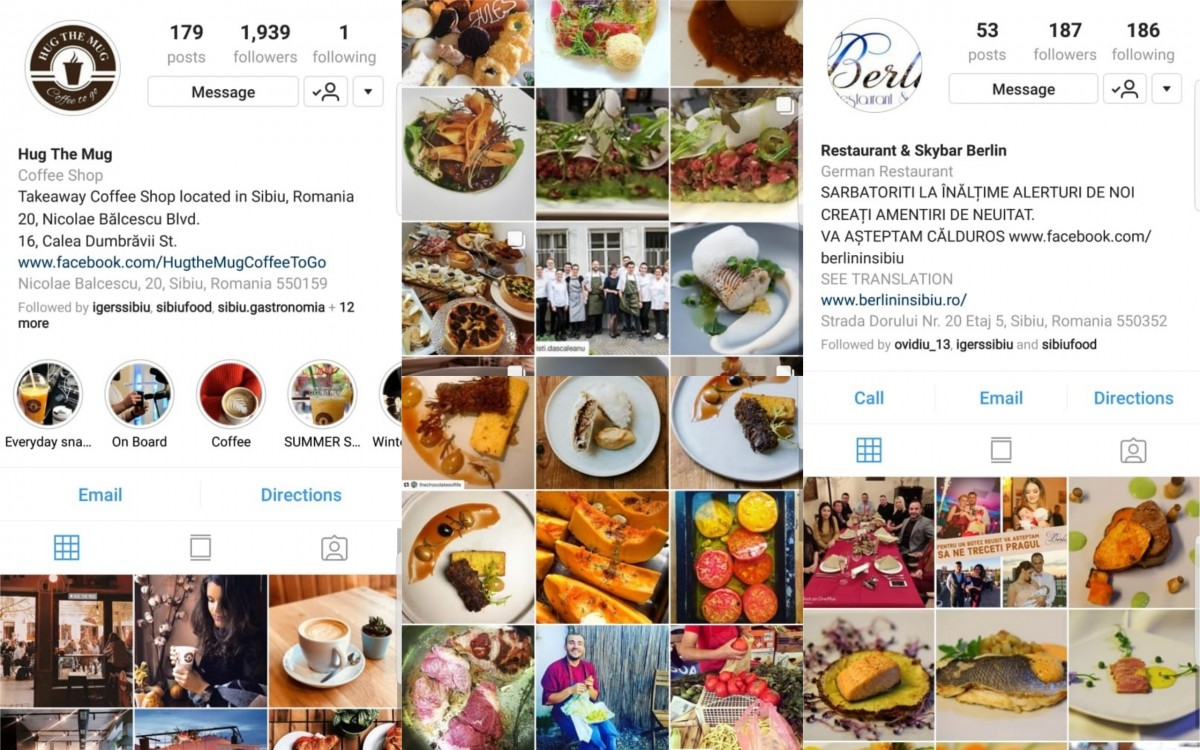 Cele mai populare localuri din Sibiu, pe Instagram