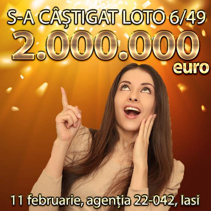 Premiu de 2 milioane de euro câștigat la Loto