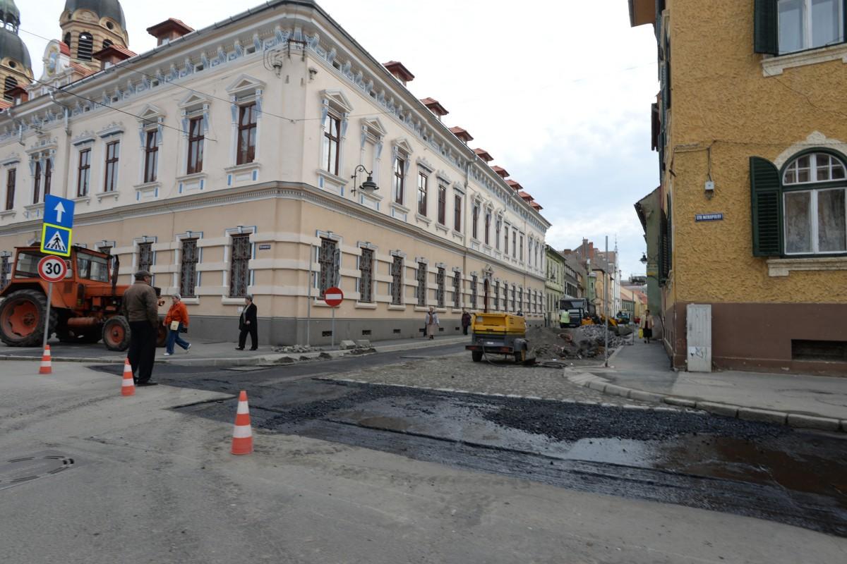 Strada Mitropoliei intră în lucrări până la finalul lunii
