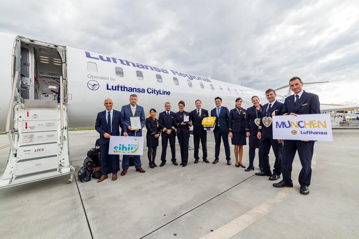Lufthansa a sărbătorit 10 ani de curse directe Sibiu-Munchen