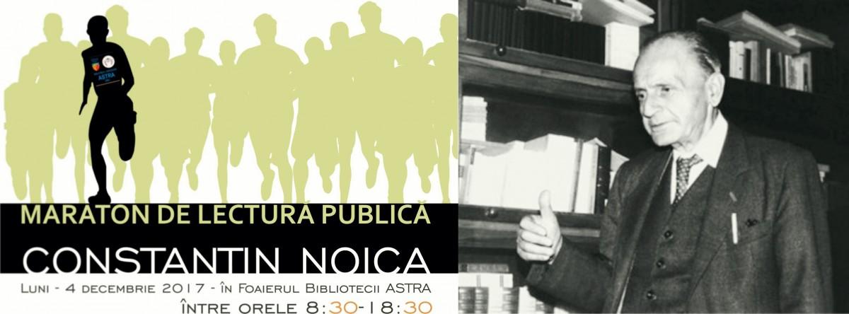 Maraton de lecturădedicat filosofului Constantin Noica, Biblioteca Astra