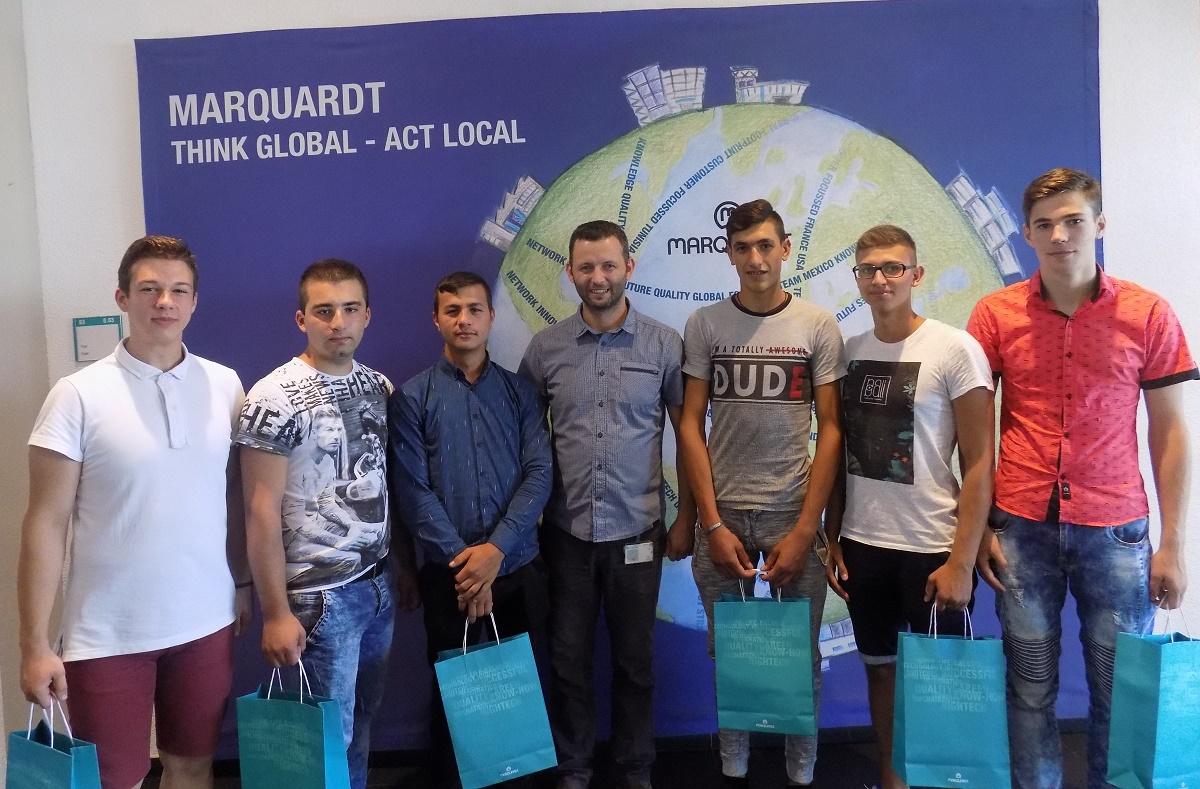 Elevii de la școala duală angajați la Marquardt Sibiu (P)