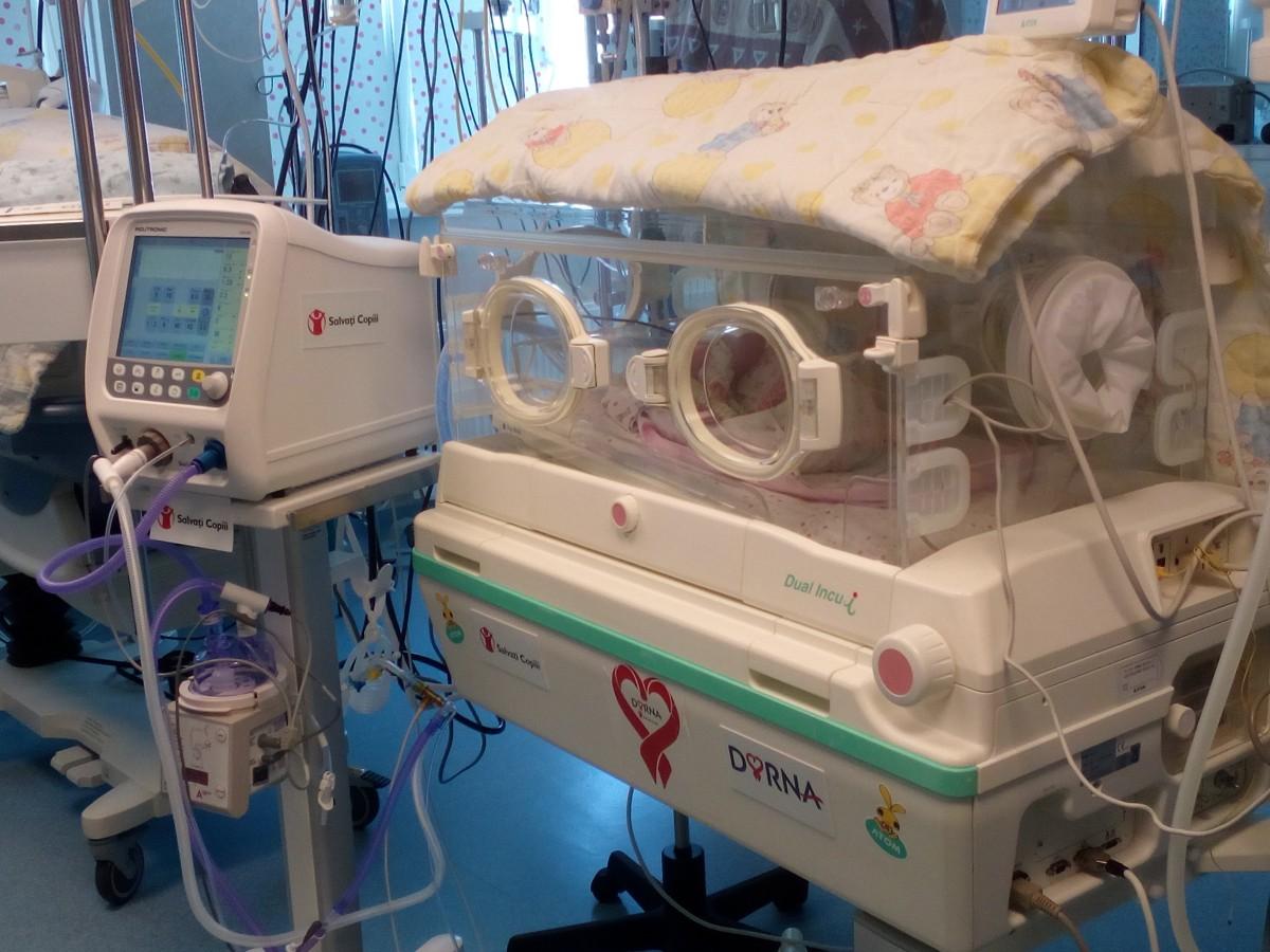 Maternitatea Sibiu a fost dotată cu un ventilator neonatal, de 32.000 de Euro