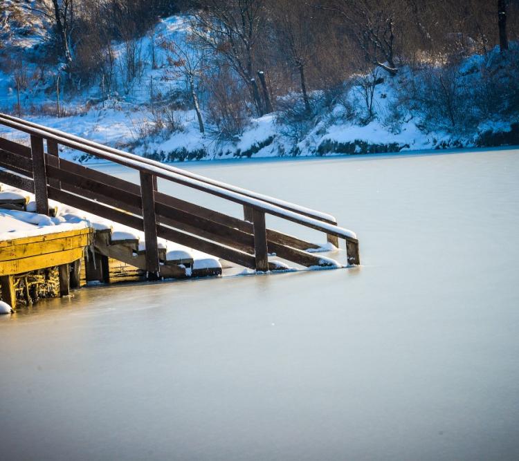 GALERIE FOTO Au înghețat și cele mai sărate lacuri