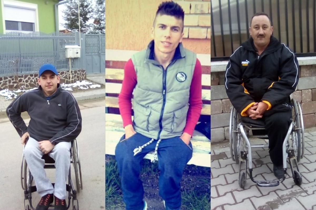 Trei persoane participă la Maratonul Sibiului în scaun cu rotile