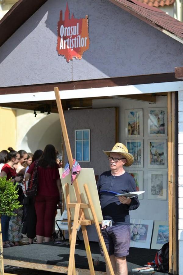 Șapte artiști au expus în luna iunie în Orașul Artiștilor