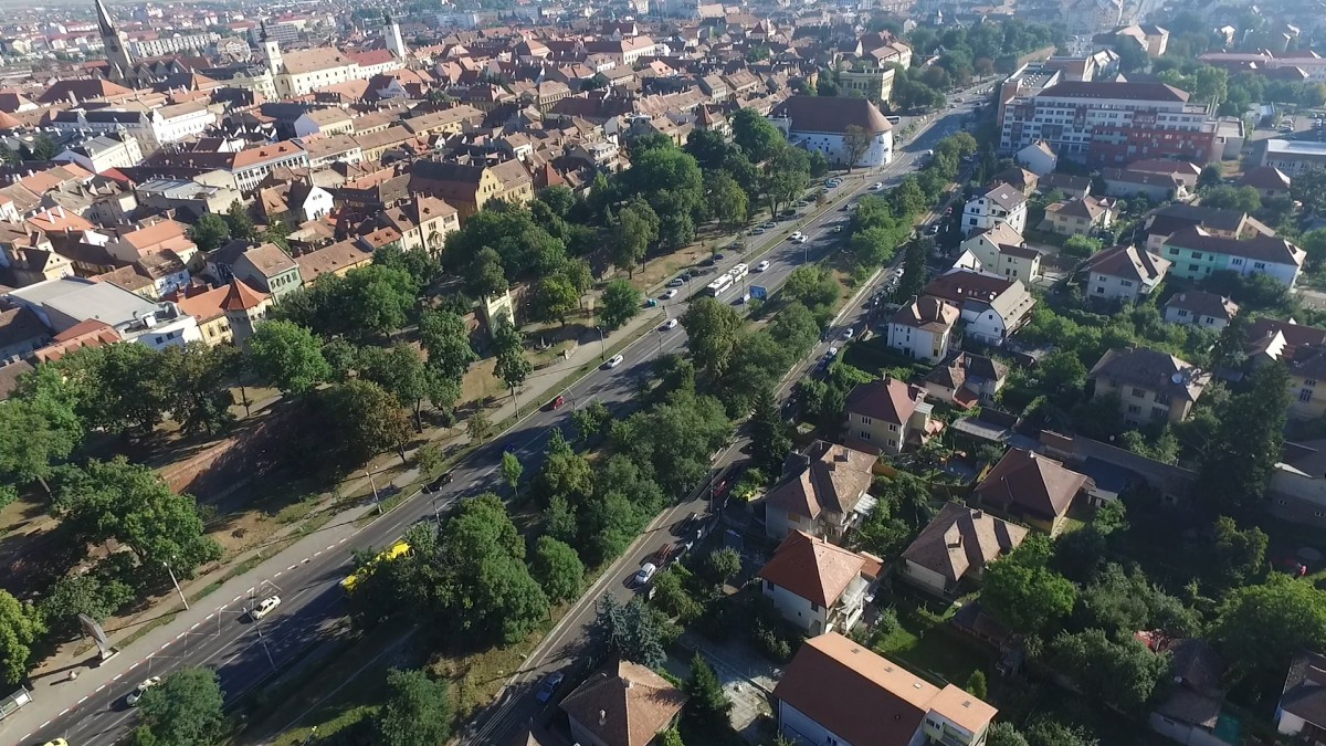 Primăria Sibiu a contractat amenajarea unui nou parc pe bulevardul Corneliu Coposu (CP)