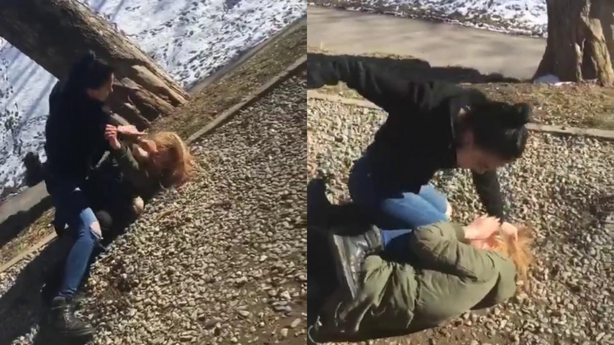 Elevă sibiancă bătută cu brutalitate de o altă tânără, în Cetății | VIDEO