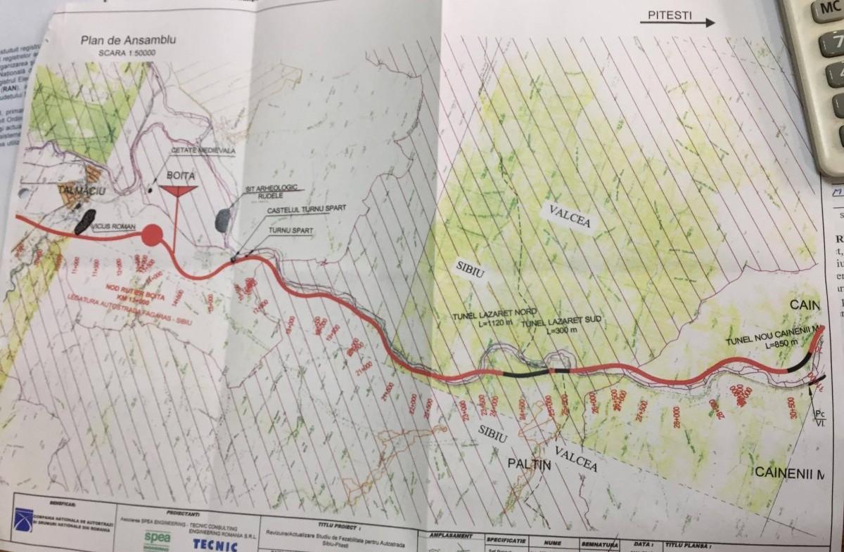 Primarii localităților pe unde va trece autostrada Sibiu-Pitești: Sunt probleme cu traseul, dar s-o vedem noi construită