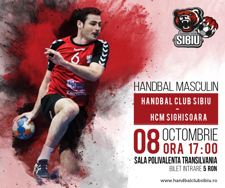 HC Sibiu debutează acasă cu HCM Sighișoara, în această după-masă