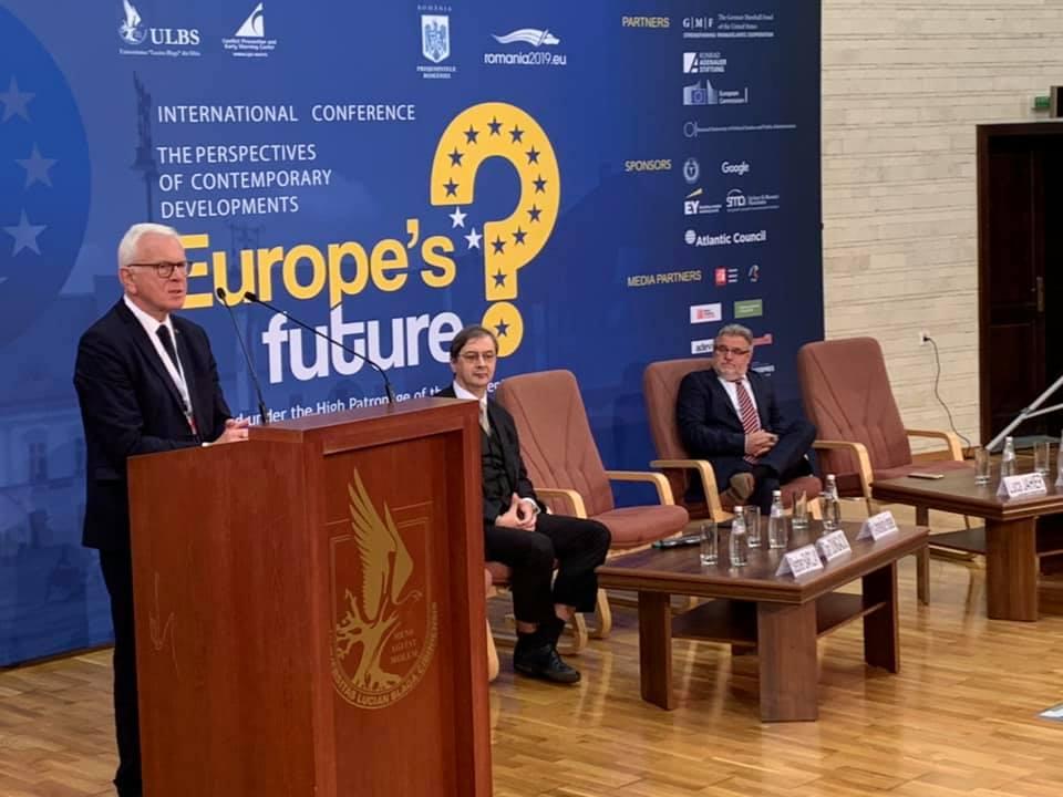 Fostul președinte al Parlamentului European, la Sibiu: Nu există țări mici și mari. UE nu înseamnătoată Europa