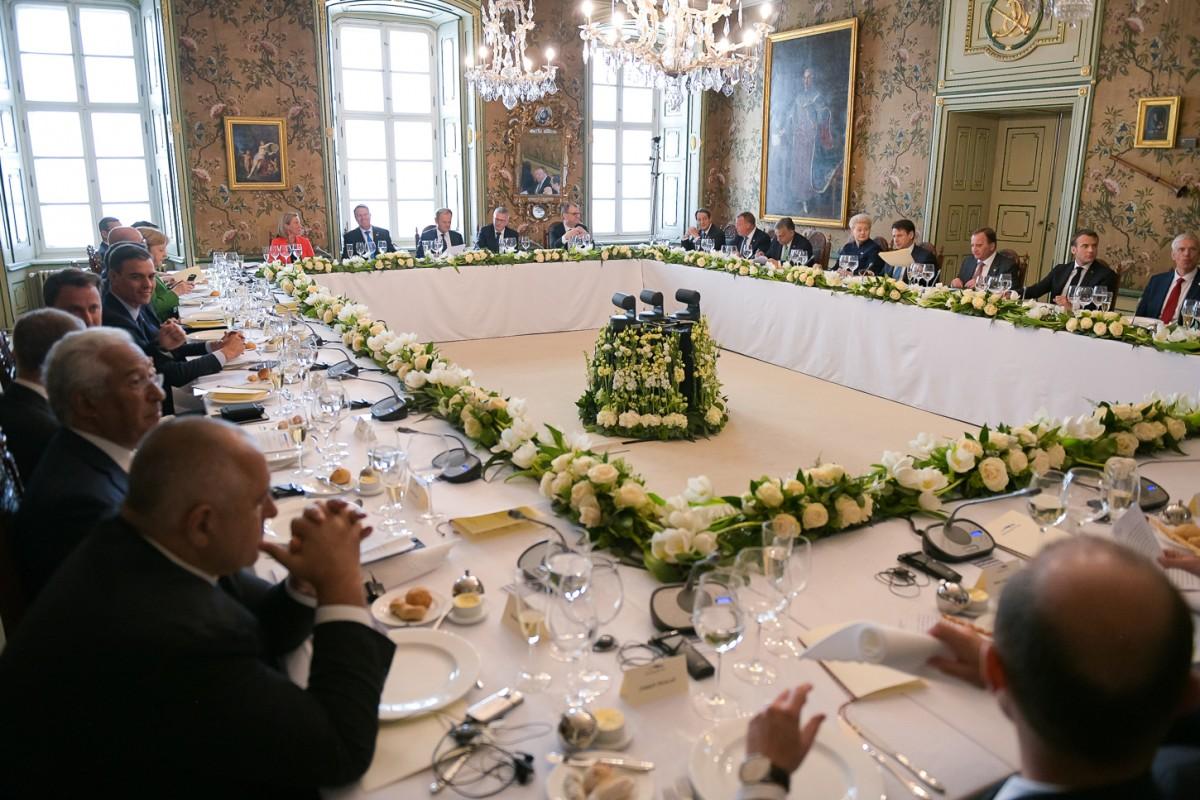 Video și foto. Liderii europeni au luat masa în Muzeul Brukenthal