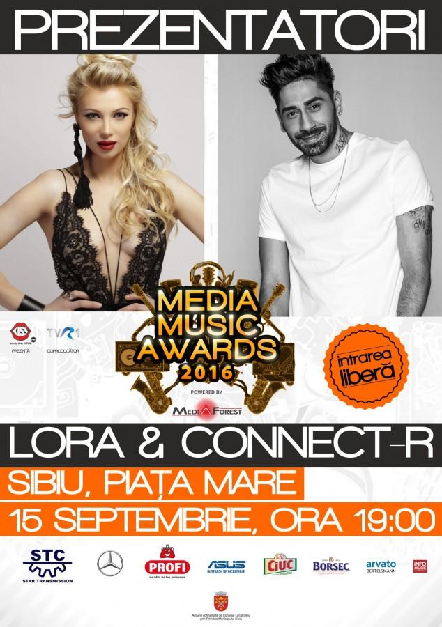 MMA: Lora si Connect-R prezintă premiile industriei muzicale româneşti
