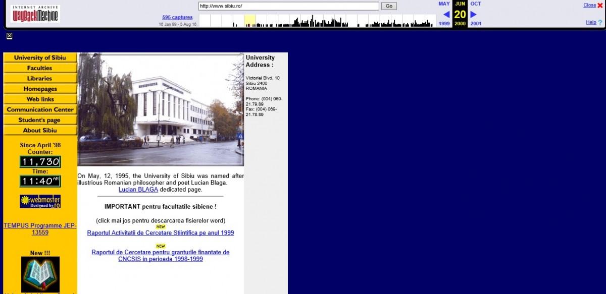 Primul site creat vreodată înSibiu. Cum a luat naștere sibiu.ro