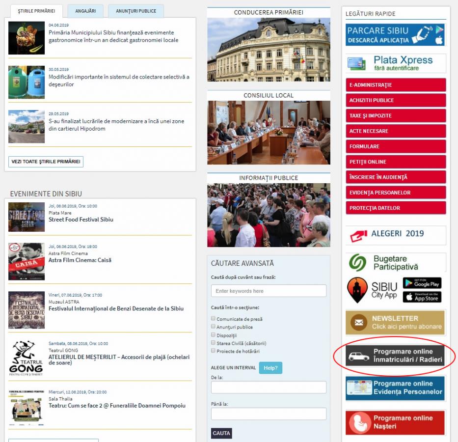 Mai simplu pentru sibieni: Programări online pentru înmatriculări și radieri auto
