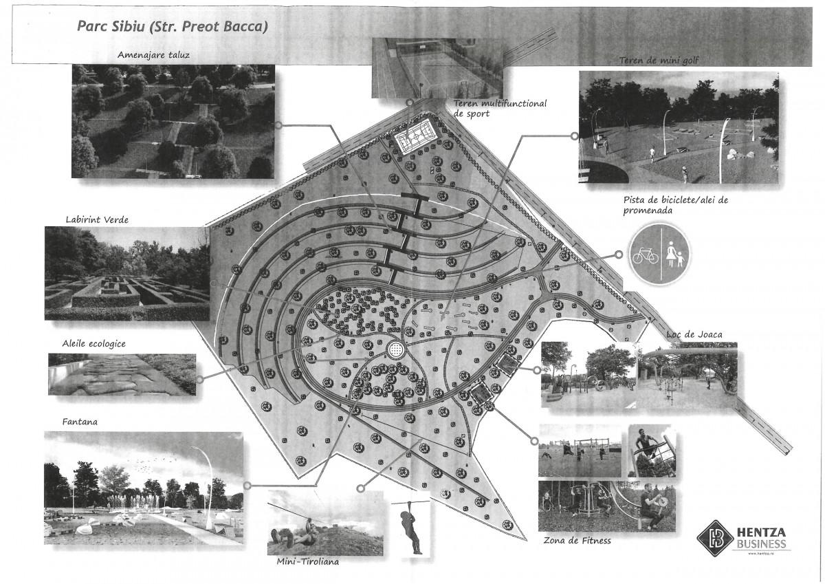 Al doilea cel mai mare parc al Sibiului va costa 12,4 mil. lei. Și va avea labirint verde și teren de minigolf
