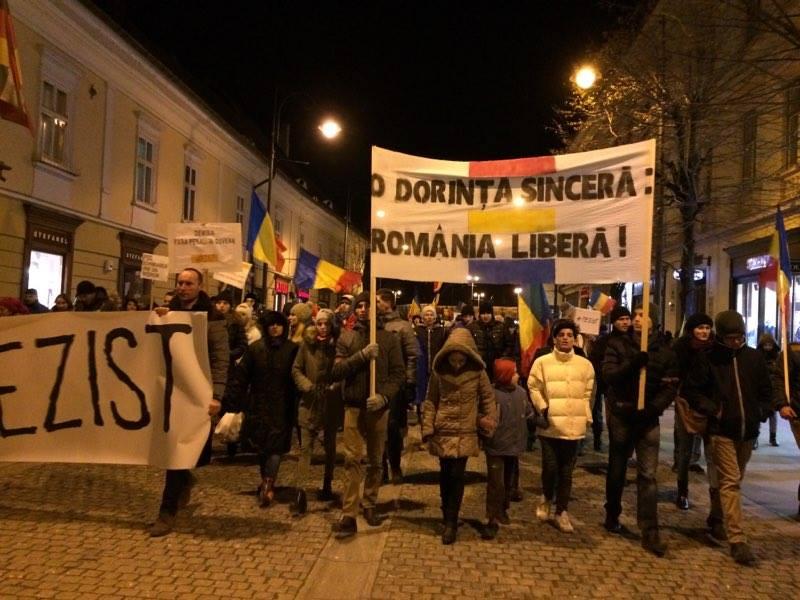 """Protest la Sibiu, duminică seara: """"Toți pentru Justiție și fiscalitate coerentă!"""""""
