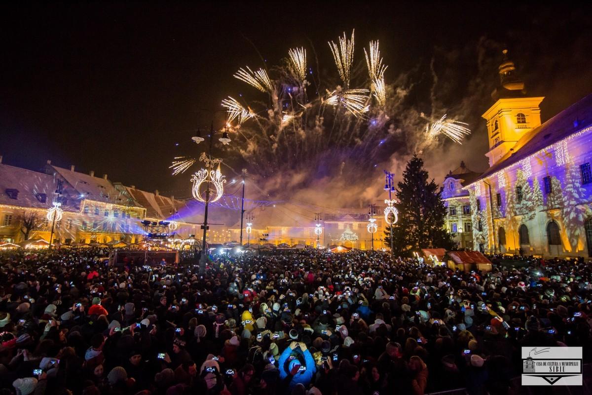 Revelionul la Sibiu în comparație cu alte orașe mari din România