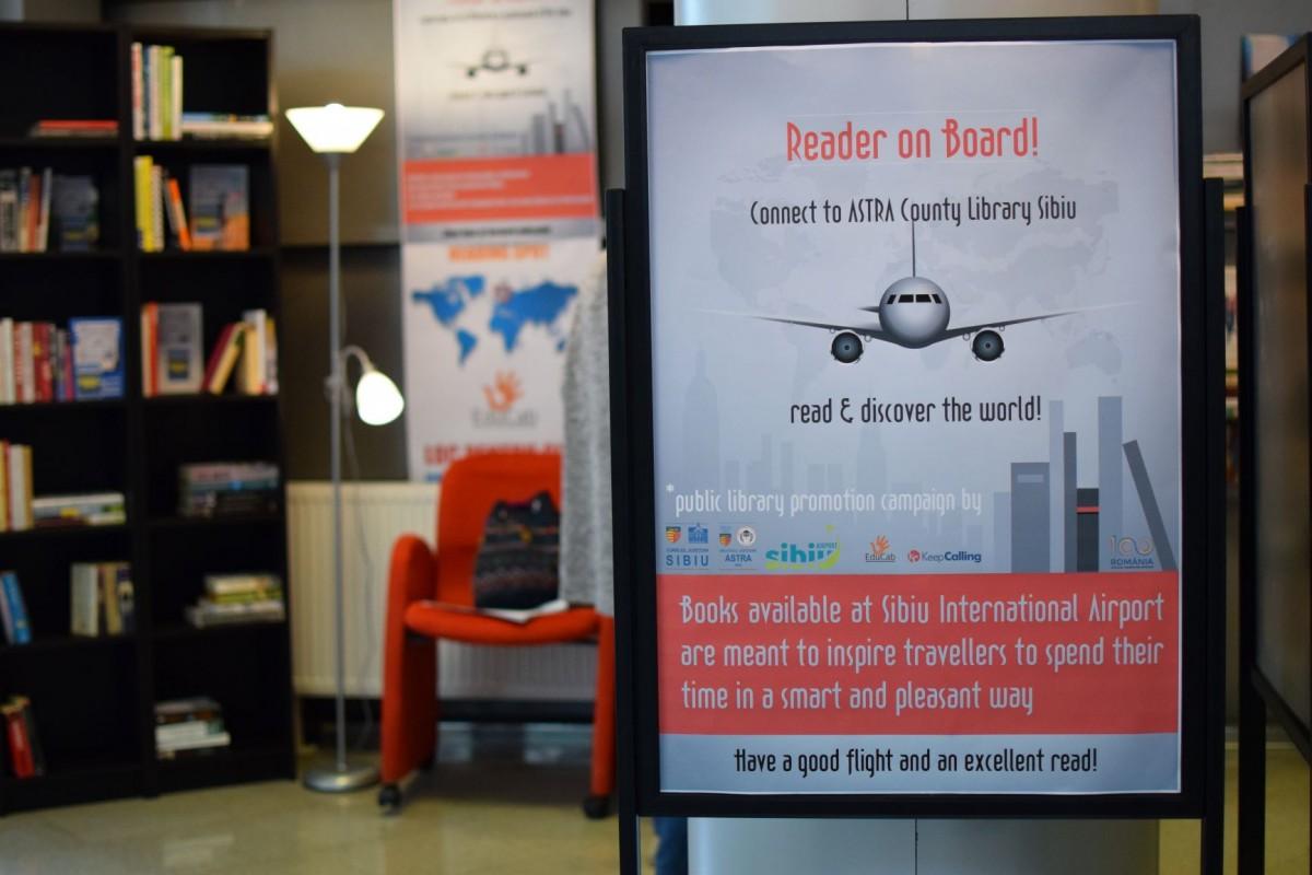 15.000 de cărți sunt disponibile de acum, pentru împrumut, la Aeroportul Sibiului