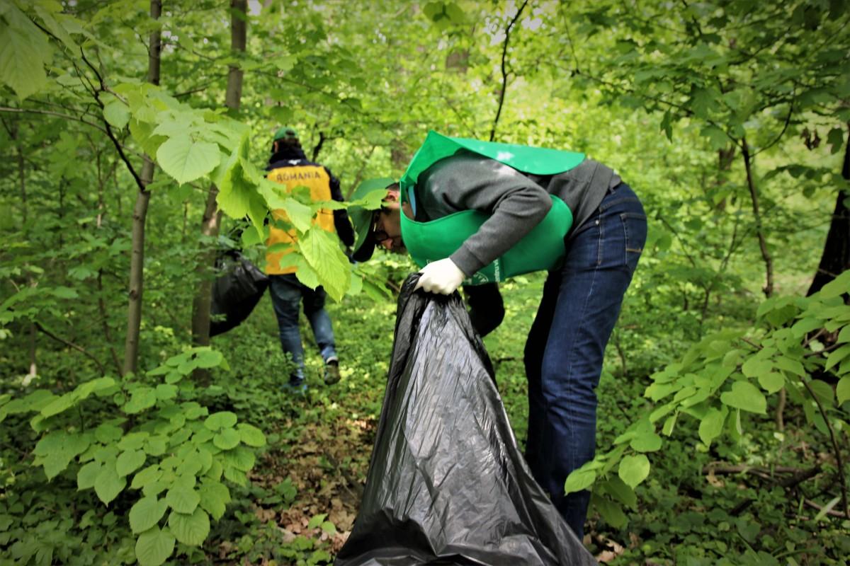 Peste 140 de tone de deșeuri colectate de Romsilva din păduri într-o singură zi
