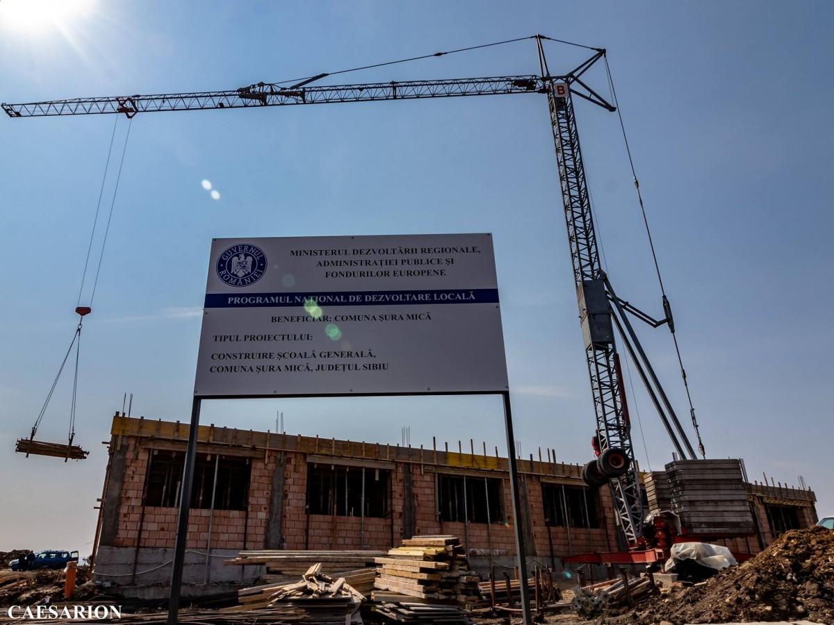 FOTO Cum evoluează lucrările la cea mai nouă școală din Sibiu