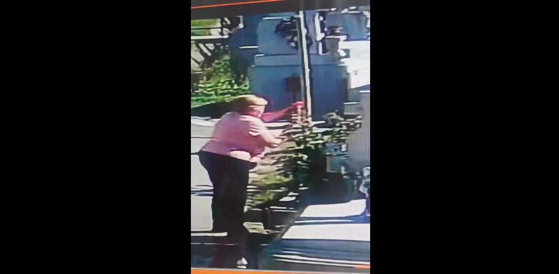 Ca la noi, la nimeni:Sibiancă surprinsă furând flori de la mormântul unui copil VIDEO