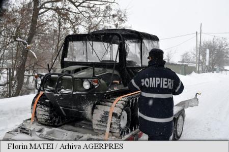 Șenilata ISU Sibiu a fost trimisă la Buzău