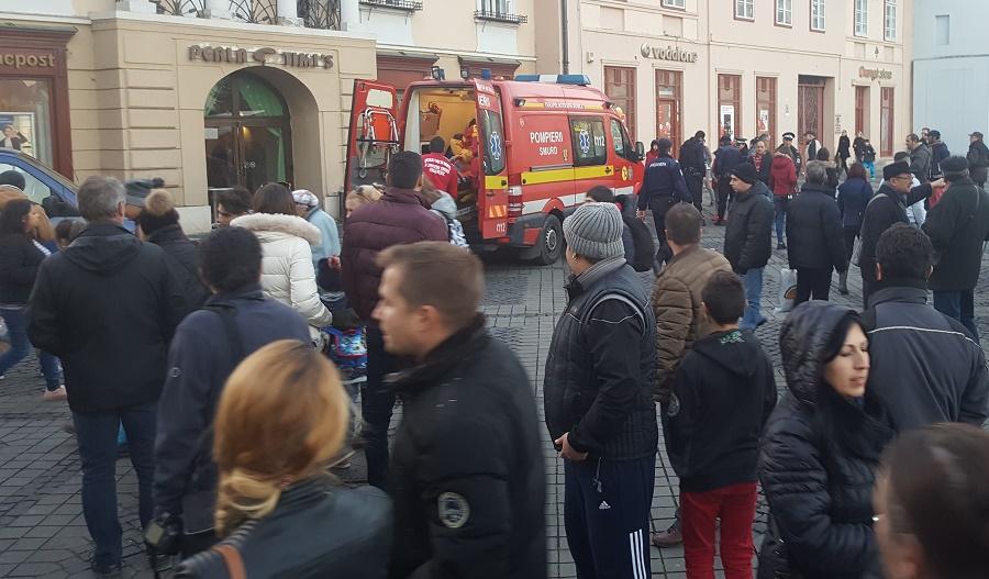 Tânăra care și-a înjunghiat ieri soțul în Piața Mare, reținută pentru 24 de ore
