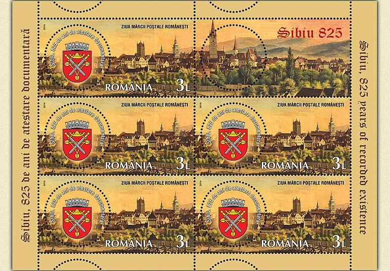 FOTO - Romfilatelia lansează o emisiune specială dedicată Sibiului