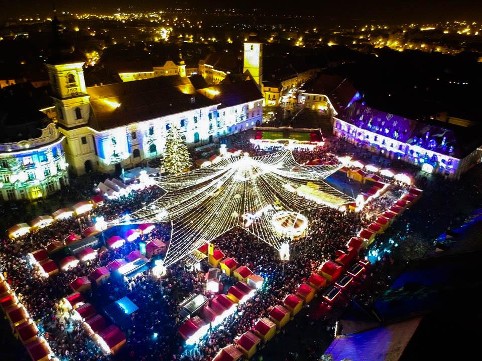 Foto video.Deschiderea oficială a Târgului de Crăciun