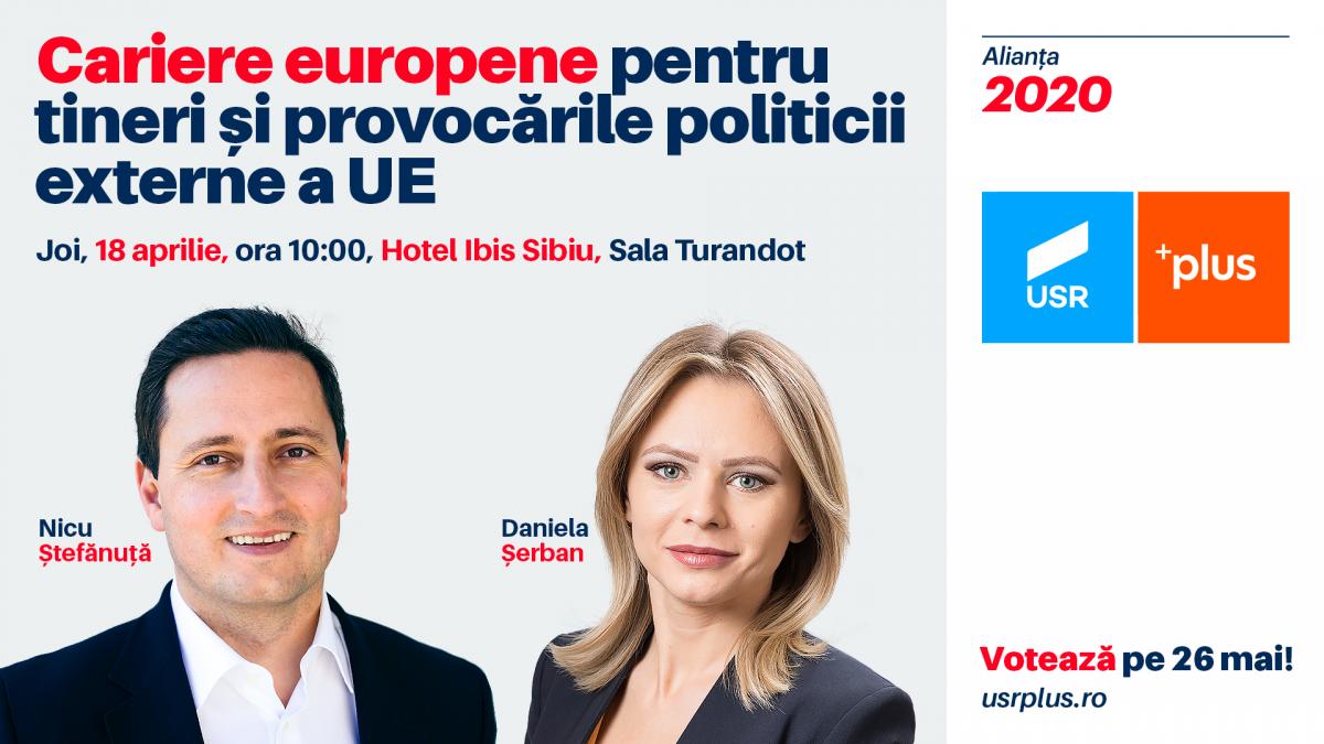 Tinerii sunt invitați la evenimentul Cariere europene și provocările politicii externe a UE