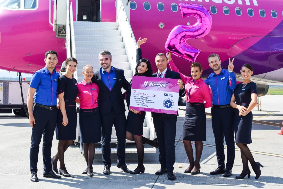 WizzAir anunță investiții de 200 de mil. de dolari la Sibiu și angajări noi
