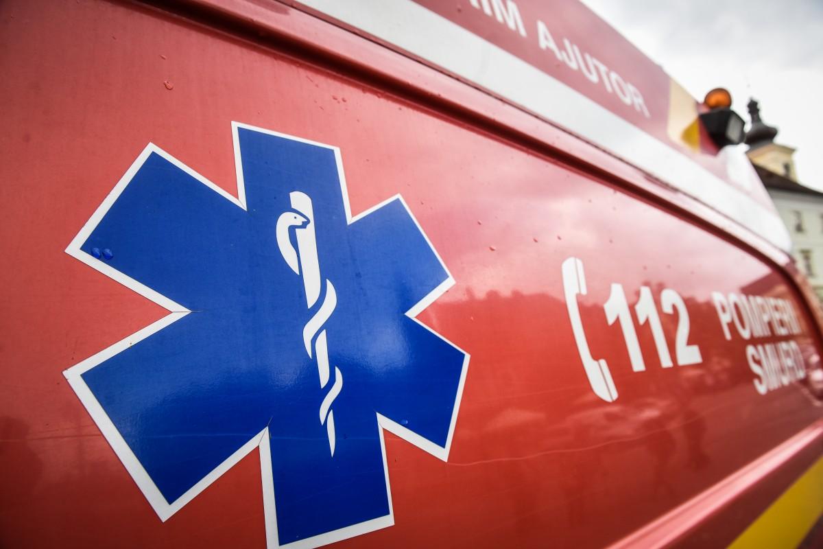 Accident în lanț, în apropierea Aeroportului Sibiu. Un bărbat a fost rănit
