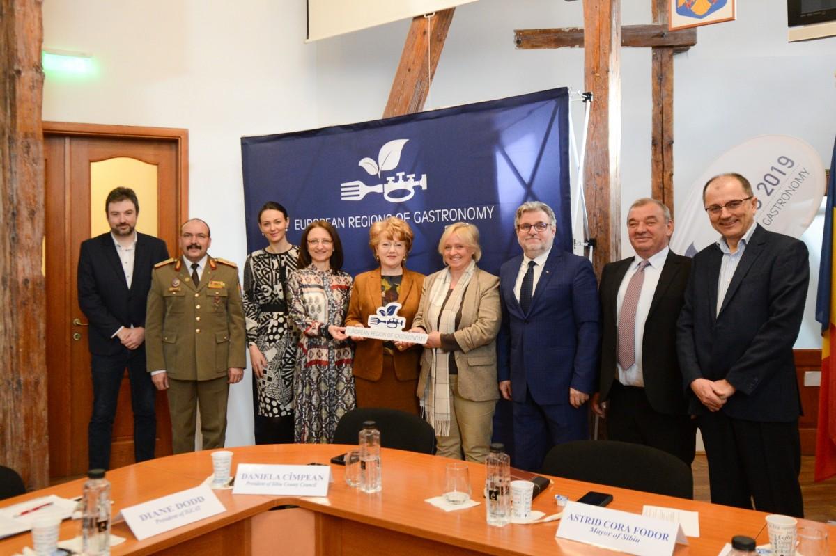 Primăria Sibiu a găzduit întâlnirea rețelei Regiuni Gastronomice Europene (CP)