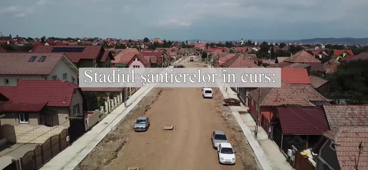 VIDEO Stadiul șantierelor din Sibiu (CP)