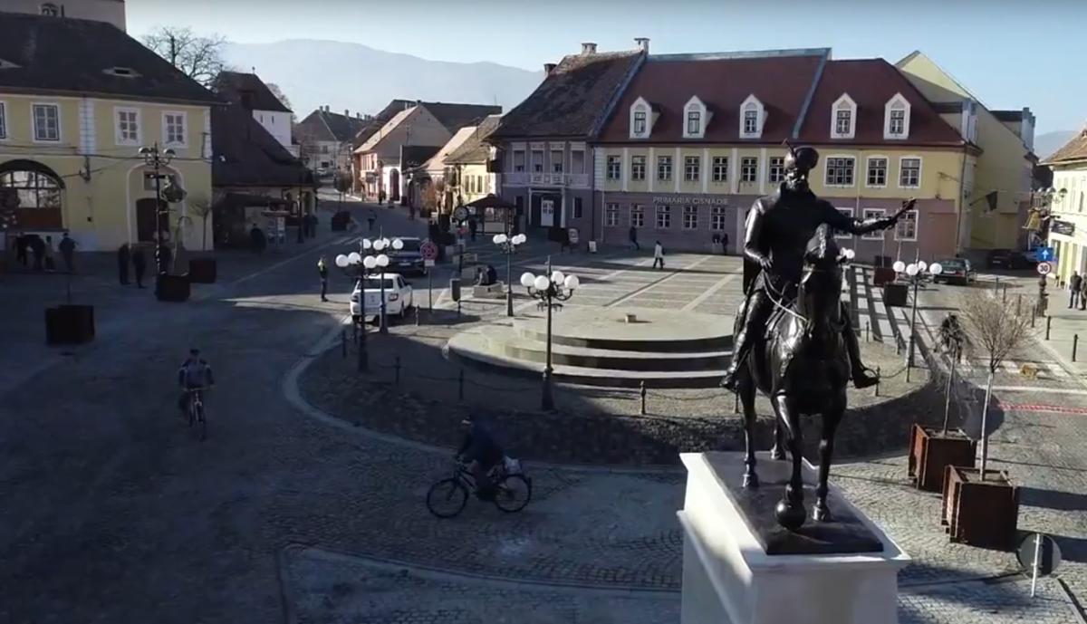 VIDEO Statuia lui Mihai Viteazul, dezvelită la Cisnădie