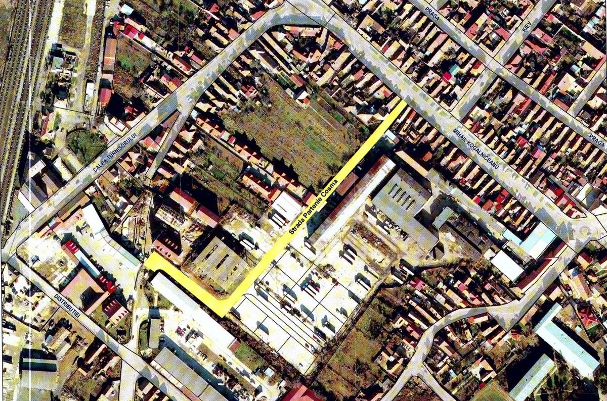 Opt străzi din zona Gării, Piața Cluj, Țineretului și Zona industrială vest primesc nume