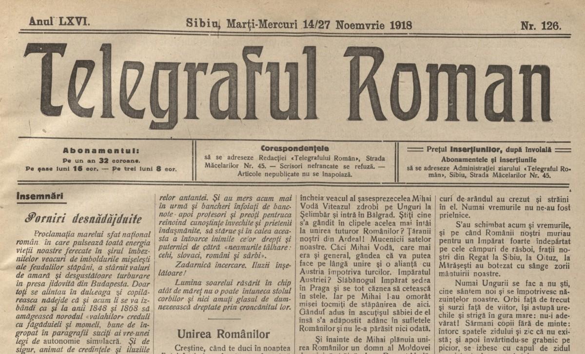 Apel cătră națiunea română