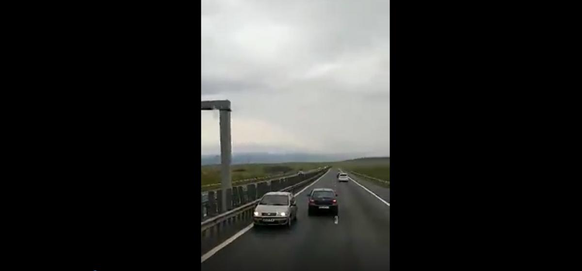 Reacția Poliției la clipul cu șoferulcare circula pe contrasens pe Centura Sibiului