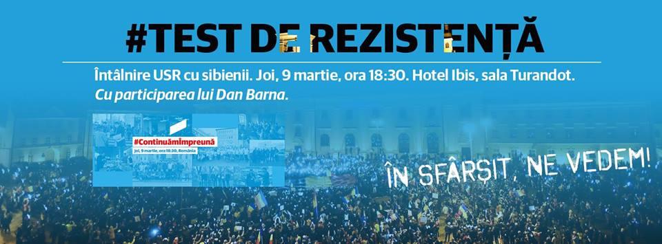 """USR Sibiu se întâlnește azi cu """"strada"""". """"Noi am dus protestul și mesajele voastre în Parlament"""""""
