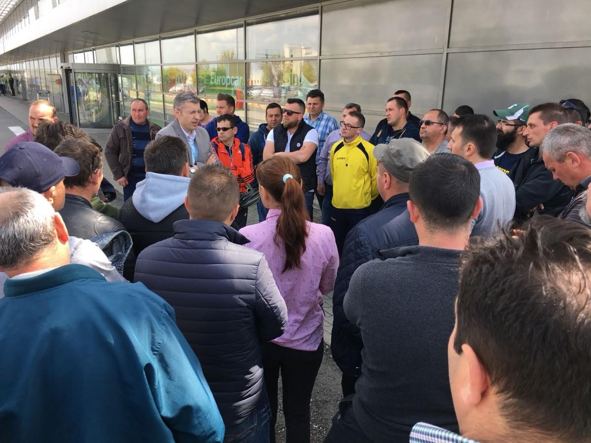 Conflictul de muncă de la Aeroportul Sibiu, rezolvat prin negocieri